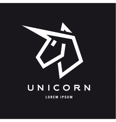 Unicorn logo icon style trend beautifully flat vector