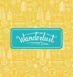 wanderlust logo vector image