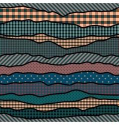 Wavy patchwork background vector