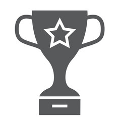 winner trophy cup glyph icon school and sport vector image
