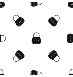 woman bag pattern seamless black vector image
