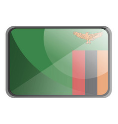 zambia flag on white background vector image