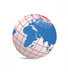 geography world vector image