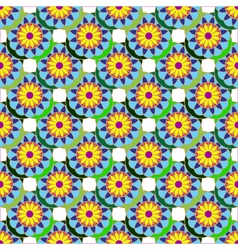 Geometric seamless pattern with fractal flower in vector image vector image