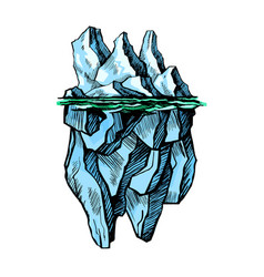 iceberg is above the water vector image vector image