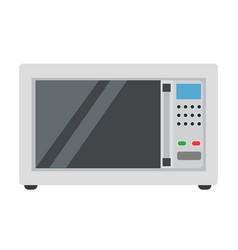 microwave oven icon food cooking kitchen isolated vector image