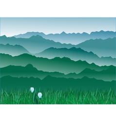 mountains 3 vector image