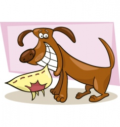 Naughty dog vector