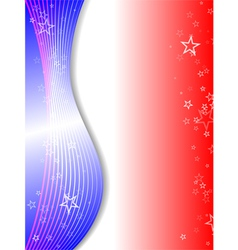 red white and blue vector image