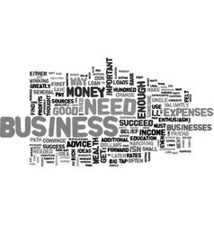 what do you need to succeed in business my answer vector image vector image