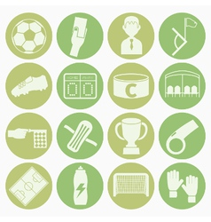 white icons soccer vector image vector image