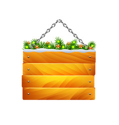 christmas wooden sign on chain isolated vector image