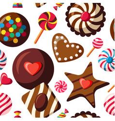 digital red brown sweet vector image