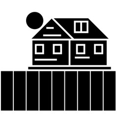 farm field icon sign o vector image