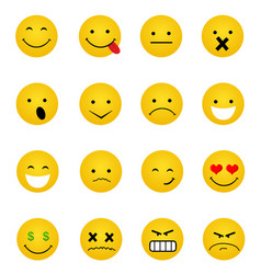 smile icons vector image vector image