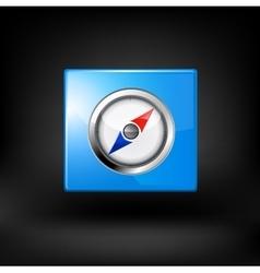 Blue navigation icon vector image vector image