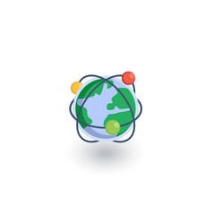 global communication network internet isometric vector image