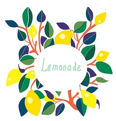 Lemonade label - bright design vector image