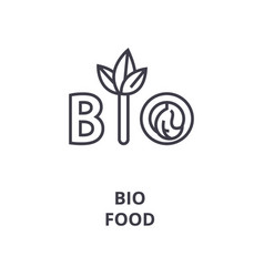 organic food line icon outline sign linear vector image