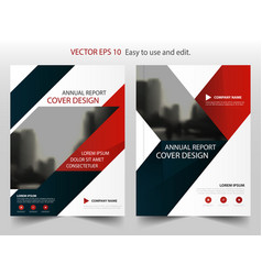 red blue triangle abstract annual report brochure vector image vector image