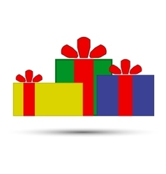 Christmas presents on a white background vector image vector image