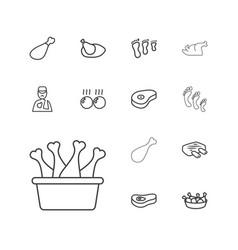 13 leg icons vector