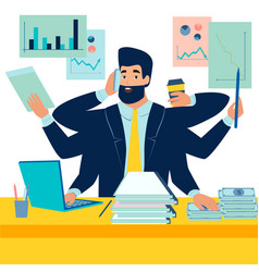 a man businessman has time to do everything a man vector image