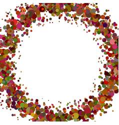 Abstract blank sprinkled confetti wreath vector