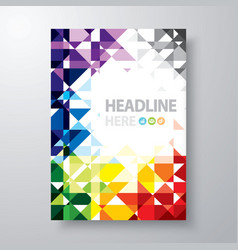 Abstract book cover vector