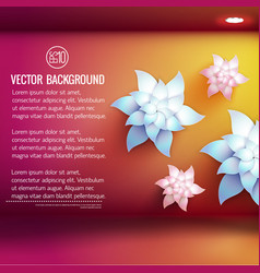 artificial flowers 3d background vector image