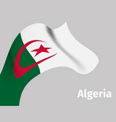Background with algeria wavy flag vector