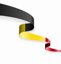 belgian flag wavy abstract background vector image