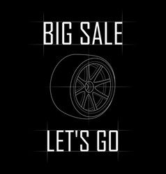 big sale of wheels for cars vector image