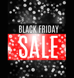 black friday advertising banner with bokeh vector image
