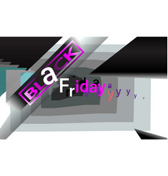 black friday background sale for banner menu vector image