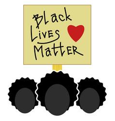 Black lives matter paper banner for protest on vector