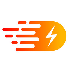 bright electricity with fast speed effect vector image