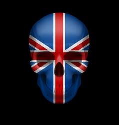 British flag skull vector