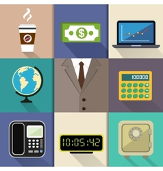 Business suit set vector