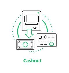 cashout concept icon vector image