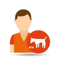 character pet training dog eating vector image