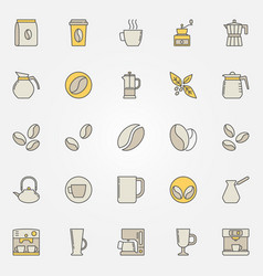 Coffee colorful icons set - creative vector