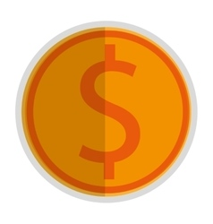 Coin with dollar sign icon vector