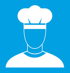 Cook icon white vector