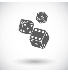Craps flat icon vector