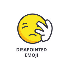 disapointed emoji line icon sign vector image