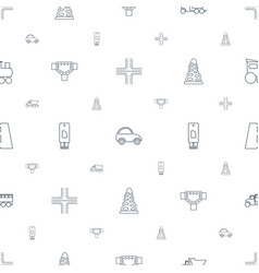 Drive icons pattern seamless white background vector