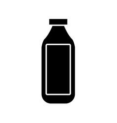 empty glass bottle vector image