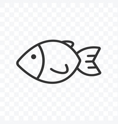 Fish icon simple flat design isolated vector