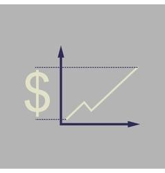 Flat web icon on stylish background money graph vector